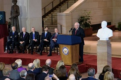 Unveiling ceremony for marble bust of Dick Cheney on December 3, 2015