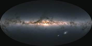 Gaia map of the sky by star density.