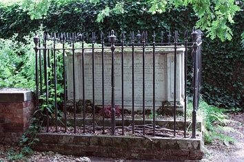 Constable's tomb at the church of St John-at-Hampstead, London