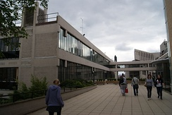 The University of Leeds – looking towards the Roger Stevens Building