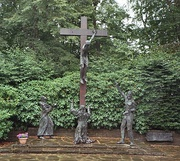 A memorial in Vossenack dedicated to the battle by Father Laurentius Englisch, OFM