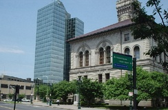 Downtown Worcester, with City Hall (1898) at right