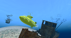A yellow submarine in Second Life