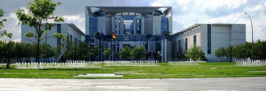 The Federal Chancellery building, seat of the Chancellor of Germany
