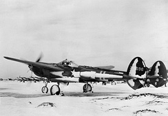 50th Fighter Squadron P-38F in Iceland, 1942[note 2]