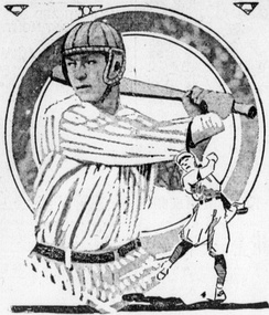 A concept drawing of a batting helmet from 1920. That year, MLB player Ray Chapman had been fatally struck in the head by a pitch.