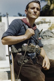 An Italian partisan in Florence on August 14, 1944
