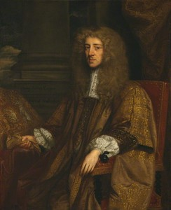 Anthony Ashley Cooper, 1st Earl of Shaftesbury, painted more than once during his chancellorship in 1672 by John Greenhill