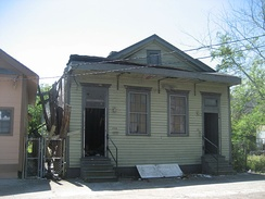 Bechet's childhood home in the 7th Ward of New Orleans