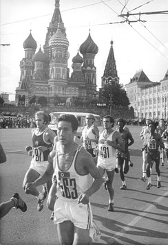 Marathon in front of Saint Basil's Cathedral