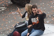 Posey and his wife, Kristen at the 2012 World Series Parade.