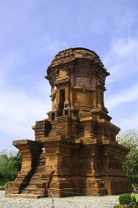Red brick Jabung temple, dated from Majapahit period.
