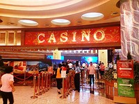 Entrance to the casino at Resorts World Sentosa, Singapore