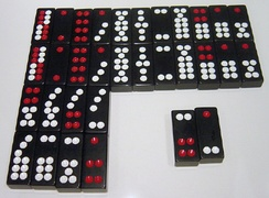 A set of Chinese dominoes