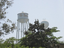 "The ""Go Beach!"" water tower"
