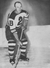 Eddie Shore as a member of the Boston Bruins. After the WHL collapsed in 1926, the Bruins purchased the rights to some of their players, including Shore.
