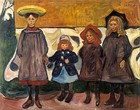 Four Girls in Åsgårdstrand, 1903, 87 cm × 111 cm (34 1⁄4 in × 43 3⁄4 in), Munch Museum, Oslo
