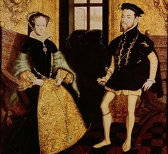 Philip and Mary I, during whose reign Elizabeth was heir presumptive