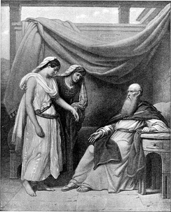 Abraham, Sarah and Hagar, imagined here in a Bible illustration from 1897.