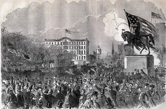Mass meeting in New York City April 20, 1861, to support the Union.