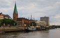 The Weser River in Bremen