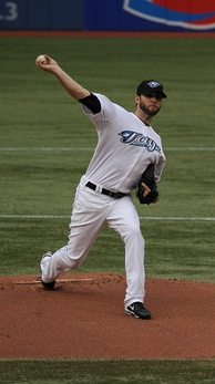 Morrow pitching for the Blue Jays in 2011