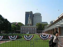 Independence Hall, with Liberty Bell Center to the right