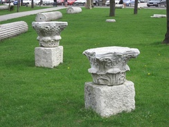 Late Roman and early Byzantine remains at the Istanbul University campus next to Beyazıt Tower.
