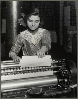 A fourteen year old Italian girl working at a Paper-Box factory (1913)