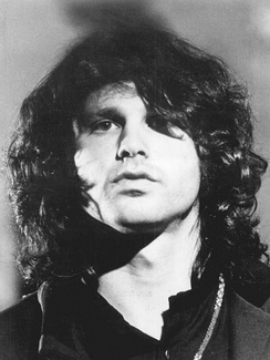 Jim Morrison, lead singer of the rock band the Doors