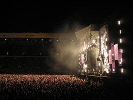 The stage at Elland Road stadium on 24 May 2008.