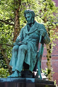 Statue of philosopher Søren Kierkegaard