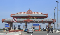Toll gate in Indonesia