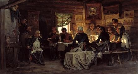 Кившенко А. Военный совет в Филях. 1880.