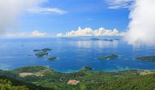 Lahad Datu sea panoramic view