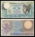 500 lire – obverse and reverse – printed in 1974