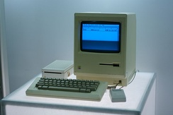 The Macintosh, released in 1984, was the first mass-market personal computer that featured an integral graphical user interface and mouse.