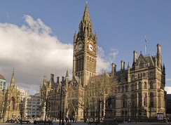 Manchester Town Hall, an example of Victorian Gothic revival architecture