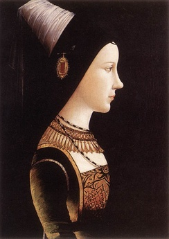 Portrait of Marie de Bourgogne around 1500 by Michael Pacher
