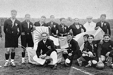 The Mexico national team before the first ever World Cup game against France in 1930