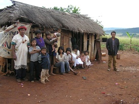 Pai Tavytera people in Amambay Department, 2012
