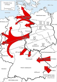 A Warsaw Pact invasion would have come via three main paths through West Germany.