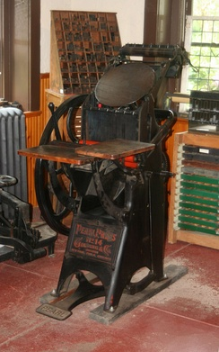 Pearl letterpress used by the Roycroft arts and crafts community