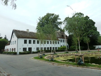 Søllerød Inn at the old village pond which forms the historic centre of the original village