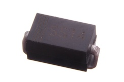 SS14 schottky diode in a DO-214AC (SMA) package (surface mount version of 1N5819)[10]