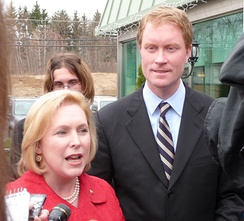 Gillibrand campaigning for her Democratic House successor Scott Murphy (2009)