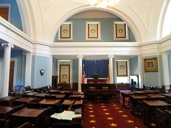 Old Senate Chamber of North Carolina, used until 1963 construction of separate state legislative building