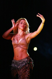 Shakira, Colombian singer is of Lebanese and Spanish ancestry