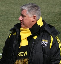 Sigi Schmid (pictured here with the Columbus Crew) led the Galaxy to their first MLS Cup title in 2002
