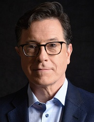 Stephen Colbert hosted his satirical news show, The Colbert Report, which won seven Primetime Emmy Awards on Comedy Central, from October 2005 to December 2014